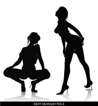 sexy silhouettes  Vettoriali