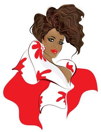 African american woman   Stock Vector - 12188171