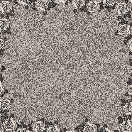 vintage floral background with grunge texture Stock Vector - 12493223