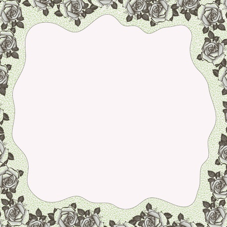 floral background with copy space for your text Vector