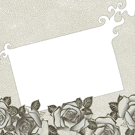 Grungy background with roses for your text Stock Vector - 12493221