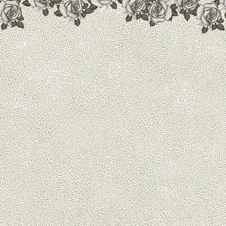 vintage floral background with grunge texture Illustration