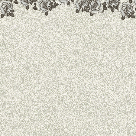 vintage floral background with grunge texture Vector