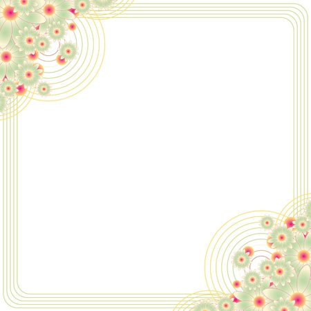 vintage floral frame with copy space Stock Vector - 12654371