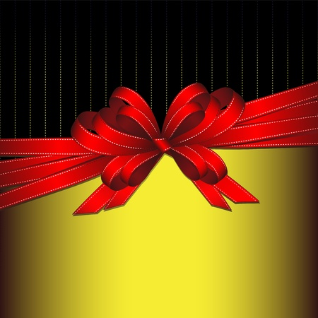 ruban noir: ruban cadeau Illustration