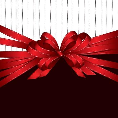 ruban noir: ruban cadeau rouge et l'arc, avec copie espace
