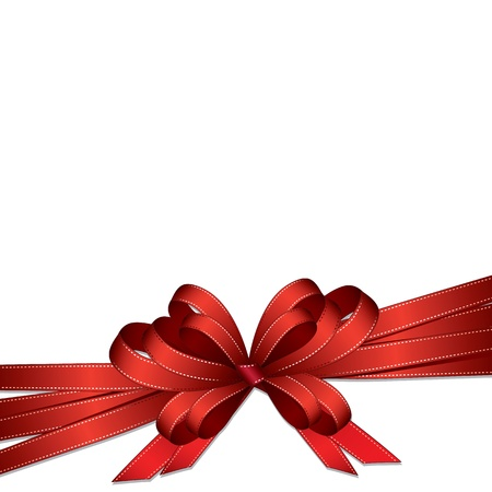 red ribbon bow: gift ribbon