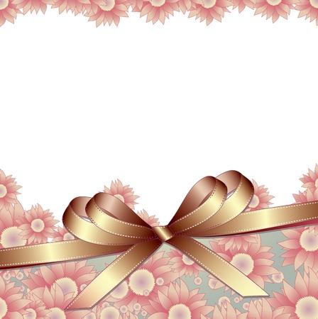 golden daisy: Fondo floral con la cinta