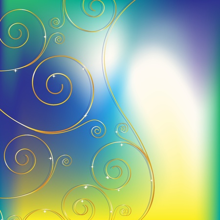 Abstract background with decorative elements Vector