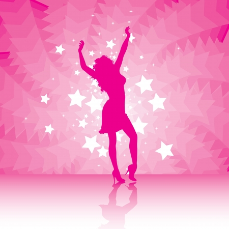 party girl  dancing with the stars Vector