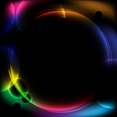 flares: abstract circular design background  Illustration
