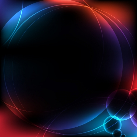 glowing lights: Abstract background of circular design with colorful glowing lights Illustration