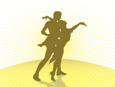 jazz dancer: dancing couple