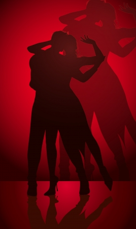 salsa dancer: dancing couple  Illustration