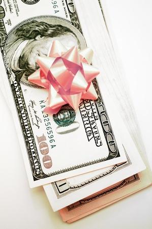 gift dollars Stock Photo - 15602845