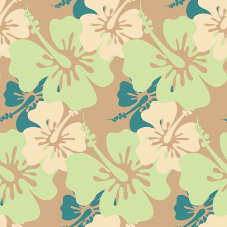 hibiscus background: Hibiscus seamless background   Illustration