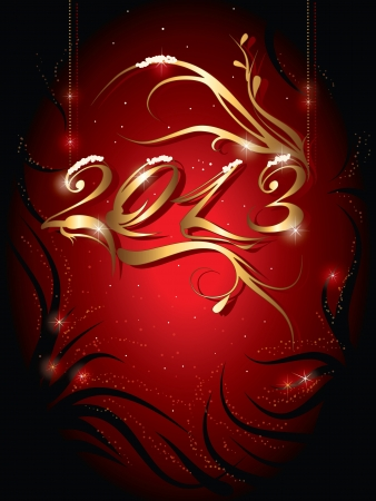 decorative new year background  with the number 2013 Vector
