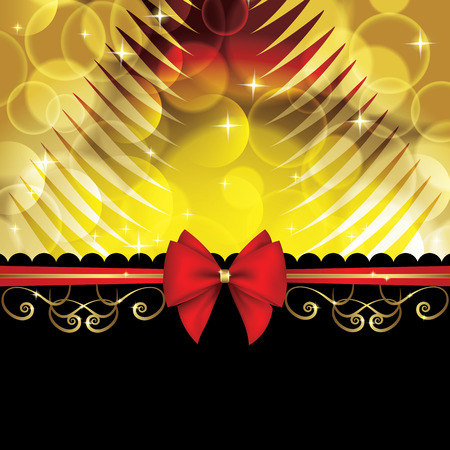 christmas background with bow Vector