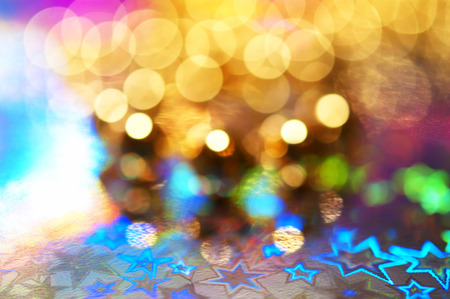 glam: Colorful bokeh lights abstract background