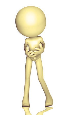 guy standing: 3d figure worried isolated on white background