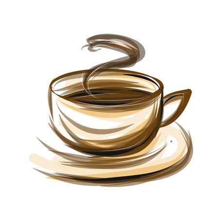 coffee illustration isolated on white background Illustration