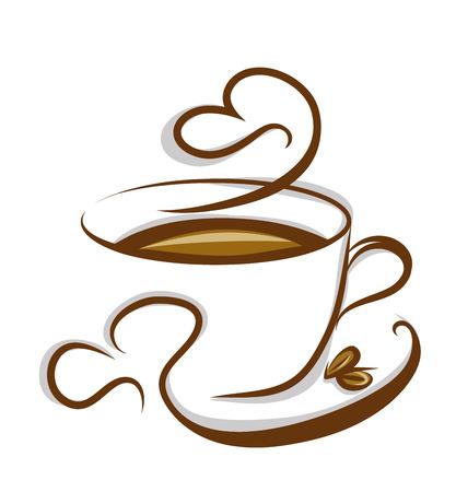 koffie illustratie op een witte achtergrond