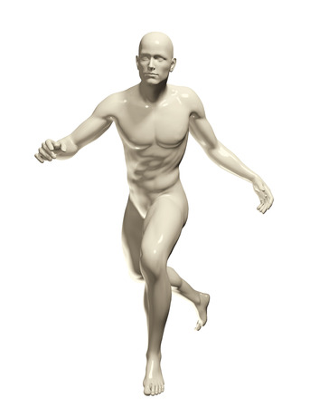 render: 3d rendered illustration of a male running isolated on white Stock Photo
