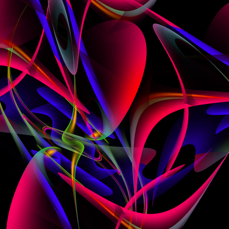 digitally generated image: Colorful abstract background Digitally generated image Stock Photo
