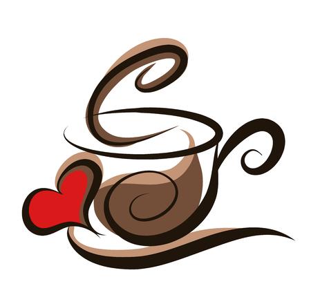 Kaffee illustration Standard-Bild - 49252363
