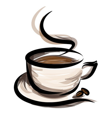 drinking coffee: coffee illustration