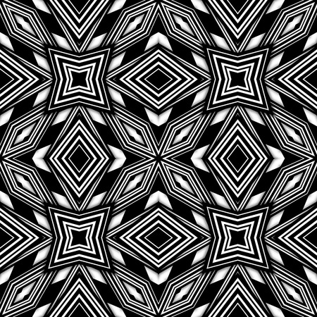 retro pattern: Black and white seamless abstract background Stock Photo