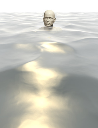technologic: 3d rendered illustration of a male in water