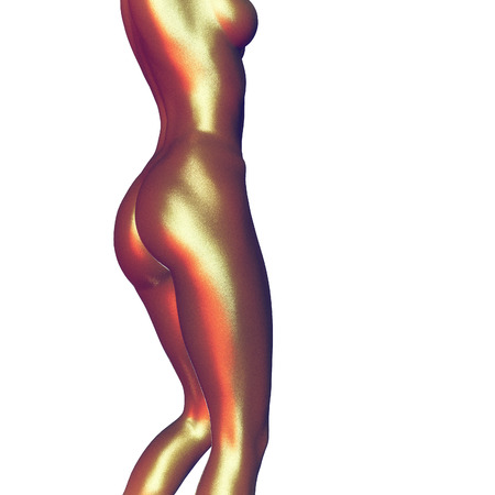 young girl nude: 3d rendered illustration of a female body close up