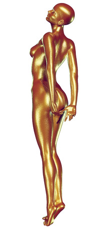 naked woman back: 3d rendered illustration of woman with beautiful skin