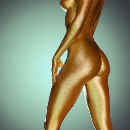 girls naked: 3D оказываемых иллюстрации женщины с красивой кожи Фото со стока