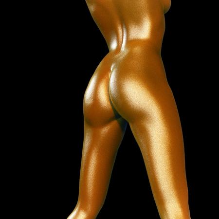 girls naked: 3D оказываемых иллюстрации женского тела крупным планом Фото со стока