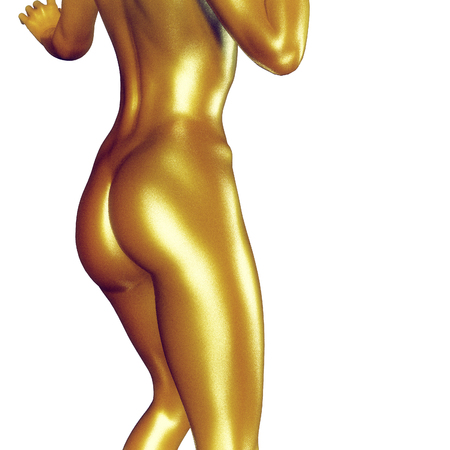 naked woman back: 3d rendered illustration of a female body close up