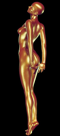 nude black woman: 3d rendered illustration of woman with beautiful skin