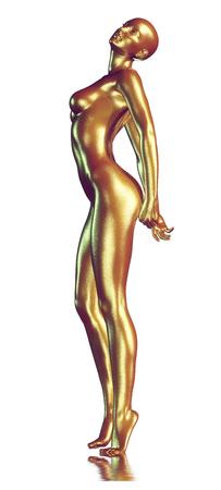 3d teruggegeven illustratie van de vrouw met mooie huid