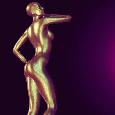 naked sexy women: 3d rendered illustration of woman