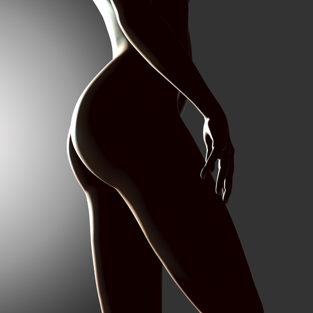 beautiful naked woman: 3d rendered illustration of a beautiful female legs