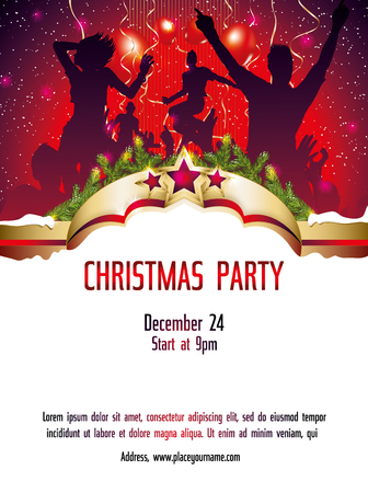 clubber: Christmas party invitation template illustration Illustration