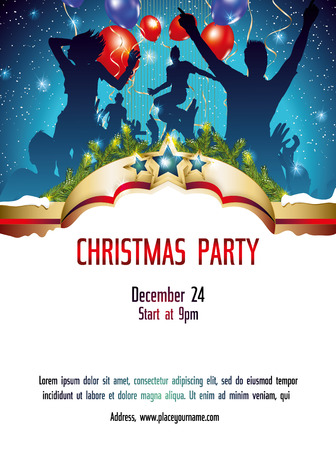 clubber: Christmas party invitation background Illustration