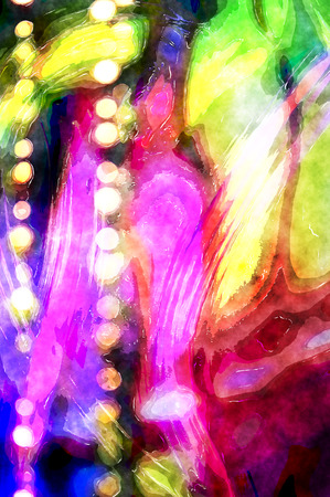 Abstract watercolor background with bokeh lights