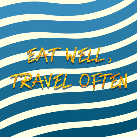 nspirational quote design on  a blue striped background