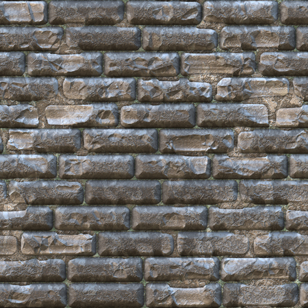 3d seamless brick wall background Stock Photo