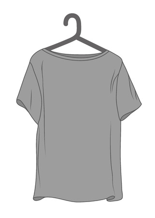 T-shirt with hanger icon isolated on white