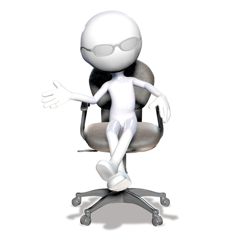 3d businessman figure talking and gesturing