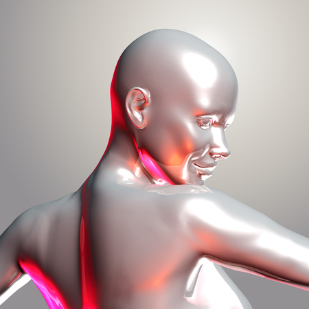 3d render of a cyber woman Stock Photo