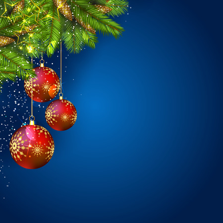 Christmas background with decoration Illustration